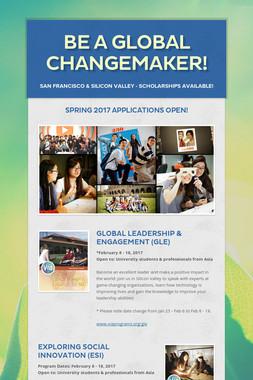 Be a Global Changemaker!