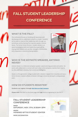 Fall Student Leadership Conference
