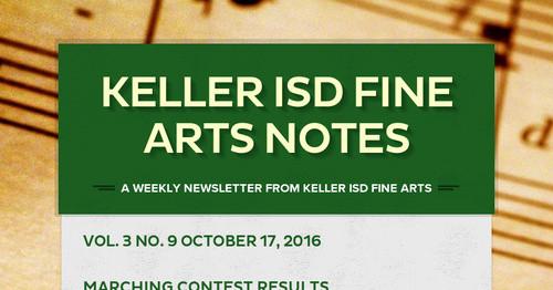 Keller ISD Fine Arts Notes