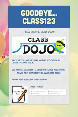 Goodbye... Class123