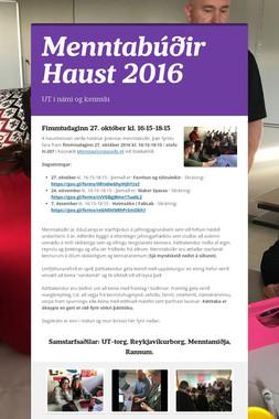 Menntabúðir Haust 2016