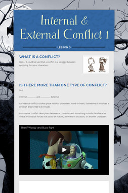 Internal & External Conflict 1