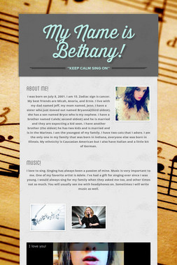 My Name is Bethany!