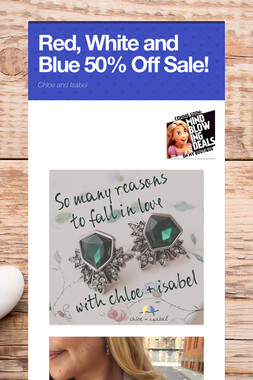Red, White and Blue 50% Off Sale!