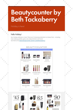 Beautycounter by Beth Tackaberry