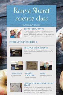 Ranya Sharaf science class