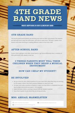4th Grade Band News