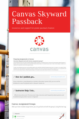 Canvas Skyward Passback