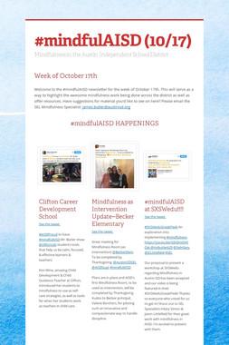#mindfulAISD (10/17)