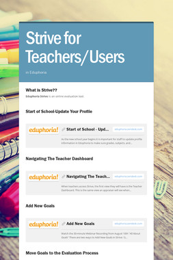 Strive for Teachers/Users