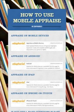 How to use Mobile Appraise