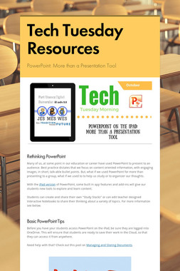 Tech Tuesday Resources