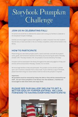 Storybook Pumpkin Challenge