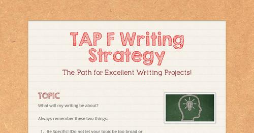Tap essay