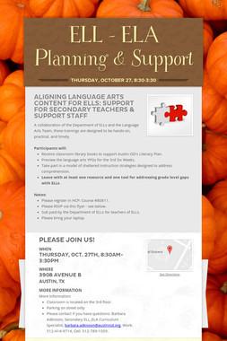 ELL - ELA Planning & Support