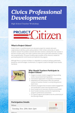 Civics Professional Development
