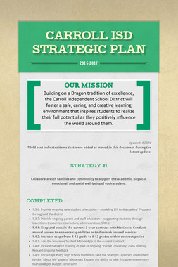 Carroll ISD Strategic Plan