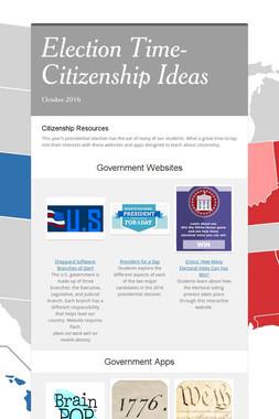 Election Time-Citizenship Ideas