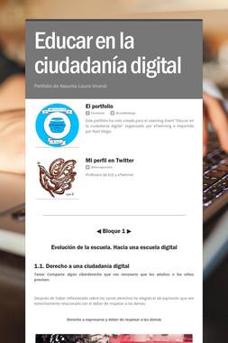 Educar en la ciudadanía digital