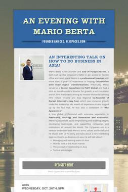 An Evening with Mario Berta
