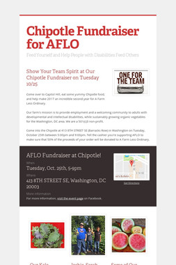 Chipotle Fundraiser for AFLO