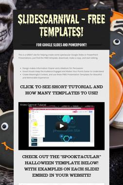 SlidesCarnival - Free Templates!