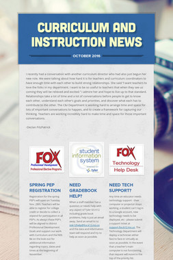 Curriculum and Instruction News