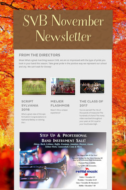 SVB November Newsletter