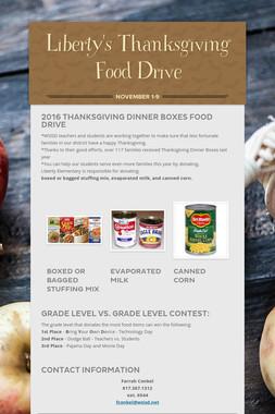 Liberty's Thanksgiving Food Drive