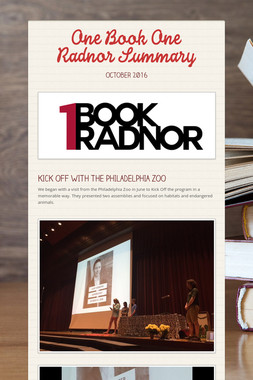 One Book One Radnor Summary