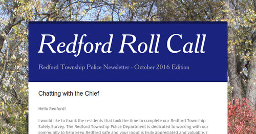 Redford Roll Call | Smore Newsletters for Business