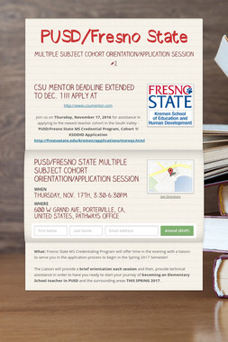 PUSD/Fresno State