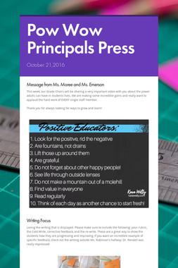 Pow Wow Principals Press