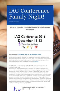 IAG Conference Family Night!