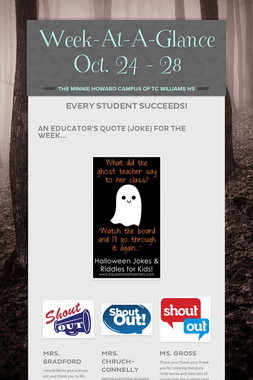 Week-At-A-Glance Oct. 24 - 28