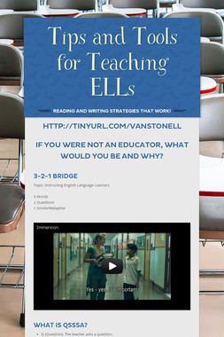 Tips and Tools for Teaching ELLs