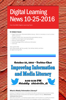 Digital Learning News 10-25-2016