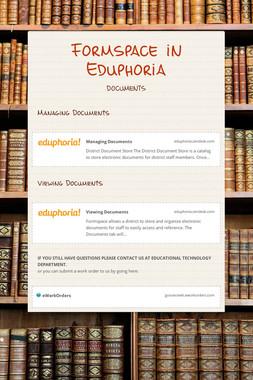 Formspace in Eduphoria