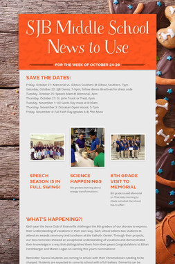 SJB Middle School News to Use