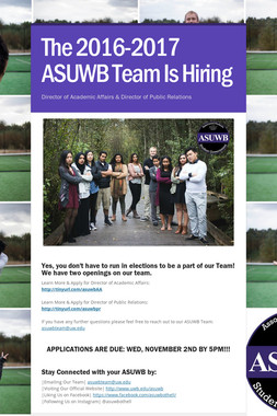 The 2016-2017 ASUWB Team Is Hiring
