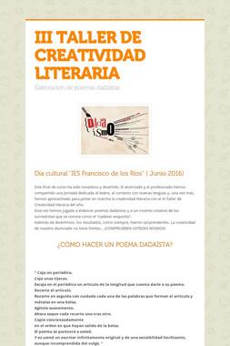 III TALLER DE CREATIVIDAD LITERARIA