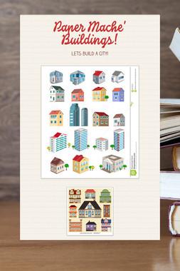 Paper Mache' Buildings!