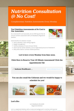 Nutrition Consultation @ No Cost!