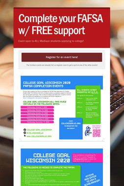 Complete your FAFSA w/ FREE support