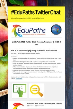 #EduPaths Twitter Chat