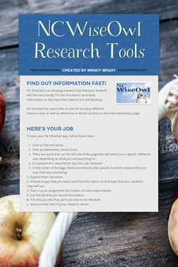NCWiseOwl Research Tools