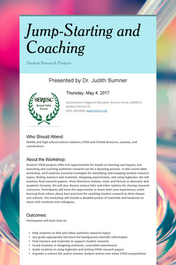 Jump-Starting and Coaching