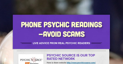 Phone Psychic Readings -Avoid Scams
