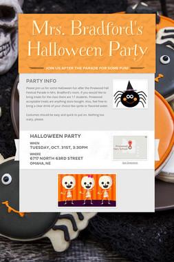 Mrs. Bradford's Halloween Party
