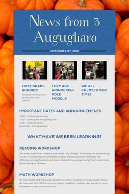 News from 3 Augugliaro